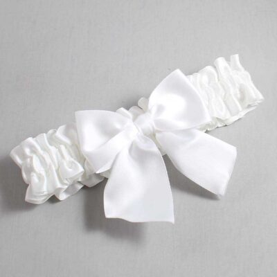 White Wedding Garter / White Wedding Garters / Kimberly #01-B01-00-112-White / Wedding Garters / Custom Wedding Garters / Bridal Garter / Prom Garter / Linda Joyce Couture