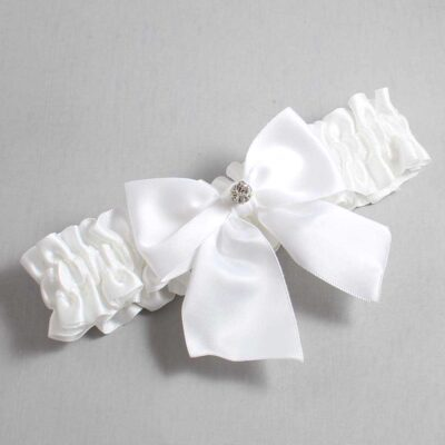 White Wedding Garter / White Wedding Garters / Pamela #01-B01-M04-112-White / Wedding Garters / Custom Wedding Garters / Bridal Garter / Prom Garter / Linda Joyce Couture