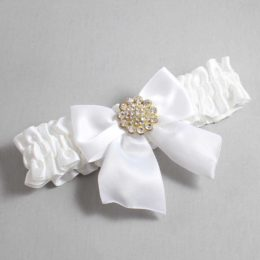 White Wedding Garter / White Wedding Garters / Penny #01-B01-M12-112-White / Wedding Garters / Custom Wedding Garters / Bridal Garter / Prom Garter / Linda Joyce Couture
