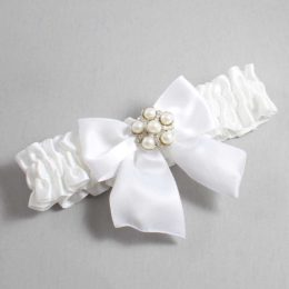 White Wedding Garter / White Wedding Garters / Monica #01-B01-M13-112-White / Wedding Garters / Custom Wedding Garters / Bridal Garter / Prom Garter / Linda Joyce Couture