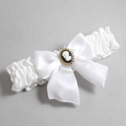 White Wedding Garter / White Wedding Garters / Amy #01-B01-M15-112-White / Wedding Garters / Custom Wedding Garters / Bridal Garter / Prom Garter / Linda Joyce Couture