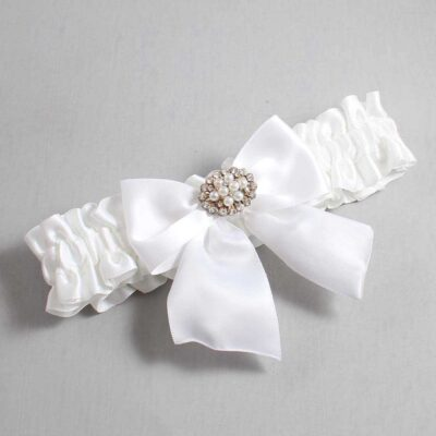 White Wedding Garter / White Wedding Garters / Cynthia #01-B01-M16-112-White / Wedding Garters / Custom Wedding Garters / Bridal Garter / Prom Garter / Linda Joyce Couture