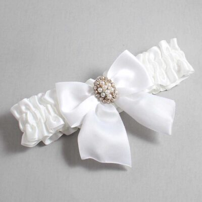 White Wedding Garter / White Wedding Garters / Annie #01-B01-M17-112-White / Wedding Garters / Custom Wedding Garters / Bridal Garter / Prom Garter / Linda Joyce Couture