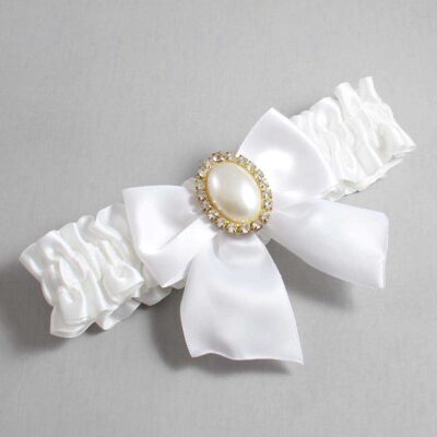 White Wedding Garter / White Wedding Garters / Maggie #01-B01-M29-112-White / Wedding Garters / Custom Wedding Garters / Bridal Garter / Prom Garter / Linda Joyce Couture