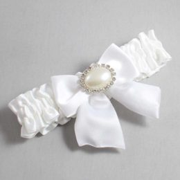 White Wedding Garter / White Wedding Garters / Nicole #01-B01-M30-112-White / Wedding Garters / Custom Wedding Garters / Bridal Garter / Prom Garter / Linda Joyce Couture