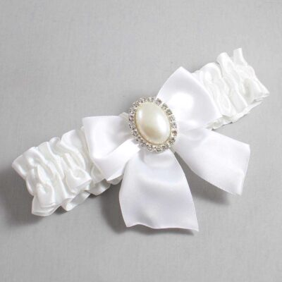 White Wedding Garter / White Wedding Garters / Maggie #01-B01-M31-112-White / Wedding Garters / Custom Wedding Garters / Bridal Garter / Prom Garter / Linda Joyce Couture
