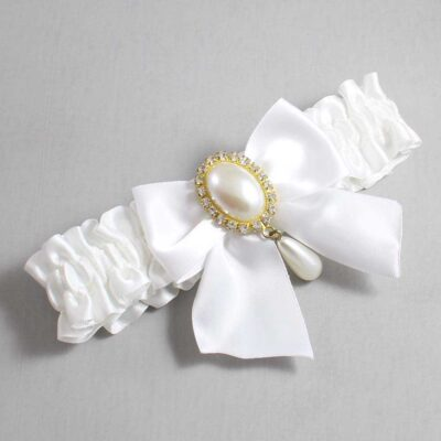 White Wedding Garter / White Wedding Garters / Michaela #01-B01-M34-112-White / Wedding Garters / Custom Wedding Garters / Bridal Garter / Prom Garter / Linda Joyce Couture