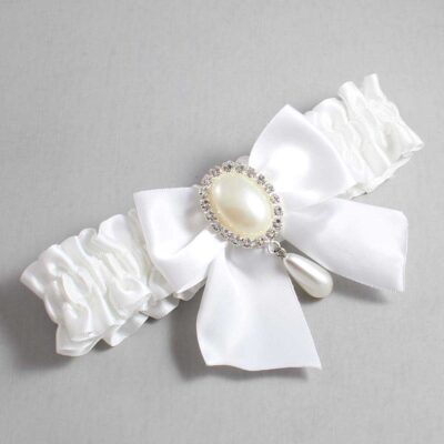 White Wedding Garter / White Wedding Garters / Michaela #01-B01-M35-112-White / Wedding Garters / Custom Wedding Garters / Bridal Garter / Prom Garter / Linda Joyce Couture