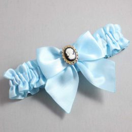 Alice Blue Wedding Garter / Blue Wedding Garters / Amy #01-B01-M15-305-Alice-Blue / Wedding Garters / Custom Wedding Garters / Bridal Garter / Prom Garter / Linda Joyce Couture