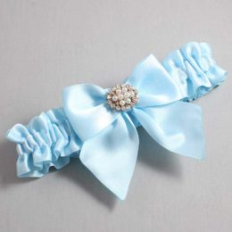 Alice Blue Wedding Garter / Blue Wedding Garters / Cynthia #01-B01-M16-305-Alice-Blue / Wedding Garters / Custom Wedding Garters / Bridal Garter / Prom Garter / Linda Joyce Couture