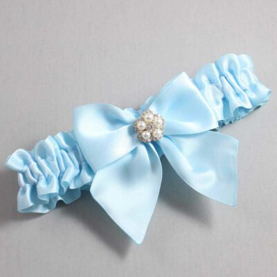 Alice Blue Wedding Garter / Blue Wedding Garters / Kourtney #01-B01-M20-305-Alice-Blue / Wedding Garters / Custom Wedding Garters / Bridal Garter / Prom Garter / Linda Joyce Couture