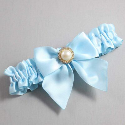 Alice Blue Wedding Garter / Blue Wedding Garters / Paige #01-B01-M21-305-Alice-Blue / Wedding Garters / Custom Wedding Garters / Bridal Garter / Prom Garter / Linda Joyce Couture
