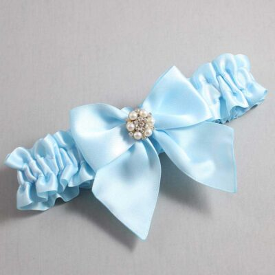 Alice Blue Wedding Garter / Blue Wedding Garters / Naomi #01-B01-M23-305-Alice-Blue / Wedding Garters / Custom Wedding Garters / Bridal Garter / Prom Garter / Linda Joyce Couture