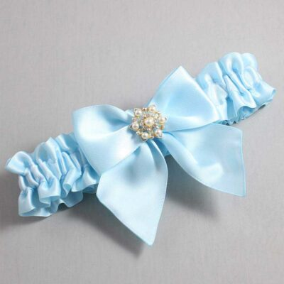 Alice Blue Wedding Garter / Blue Wedding Garters / Larissa #01-B01-M27-305-Alice-Blue / Wedding Garters / Custom Wedding Garters / Bridal Garter / Prom Garter / Linda Joyce Couture
