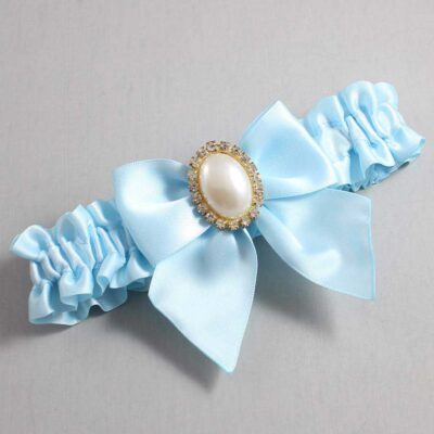 Alice Blue Wedding Garter / Blue Wedding Garters / Maggie #01-B01-M29-305-Alice-Blue / Wedding Garters / Custom Wedding Garters / Bridal Garter / Prom Garter / Linda Joyce Couture