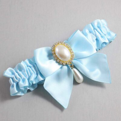 Alice Blue Wedding Garter / Blue Wedding Garters / Michaela #01-B01-M34-305-Alice-Blue / Wedding Garters / Custom Wedding Garters / Bridal Garter / Prom Garter / Linda Joyce Couture