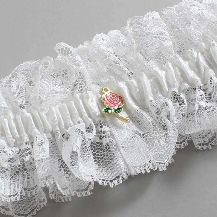 White Wedding Garters / Ivory Wedding Garters / Black Wedding Garters / Blue Wedding Garters / Brown Wedding Garters / Burgundy Wedding Garters / Gold Wedding Garters / Gray Wedding Garters / Green Wedding Garters / Orange Wedding Garters / Pink Wedding Garters / Purple Wedding Garters / Red Wedding Garters / Teal Wedding Garters / Yellow Wedding Garters` / Wedding Garters / Wedding Garter / Custom Wedding Garter / Linda Joyce Couture / Bijou # 11-A19-Silver-Ruby