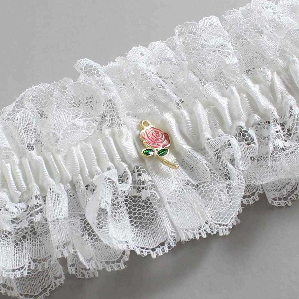 Customizable Wedding Garter / Tonya #11-B41-M16-Gold