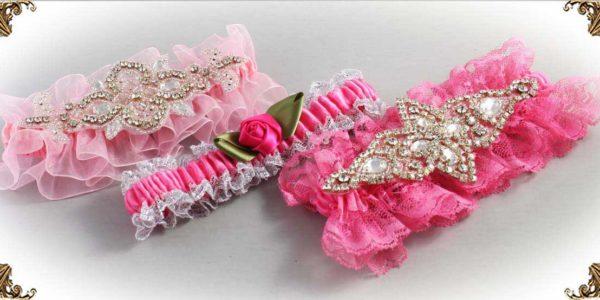 Pink Wedding Garters