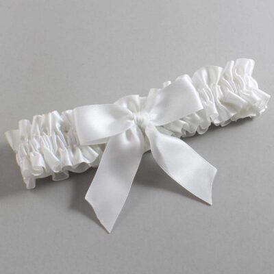 White Wedding Garter / White Wedding Garters / Melva #01-B02-00-112-White / Wedding Garters / Custom Wedding Garters / Bridal Garter / Prom Garter / Linda Joyce Couture