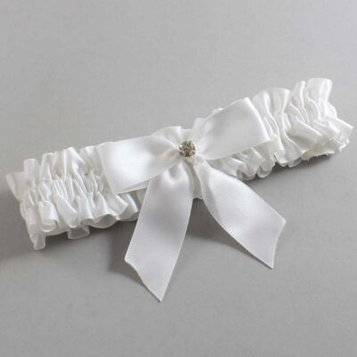 White Wedding Garter / White Wedding Garters / Rylee #01-B02-M03-112-White / Wedding Garters / Custom Wedding Garters / Bridal Garter / Prom Garter / Linda Joyce Couture