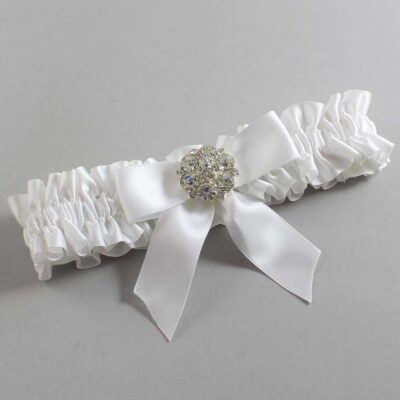 White Wedding Garter / White Wedding Garters / Sarina #01-B02-M11-112-White / Wedding Garters / Custom Wedding Garters / Bridal Garter / Prom Garter / Linda Joyce Couture