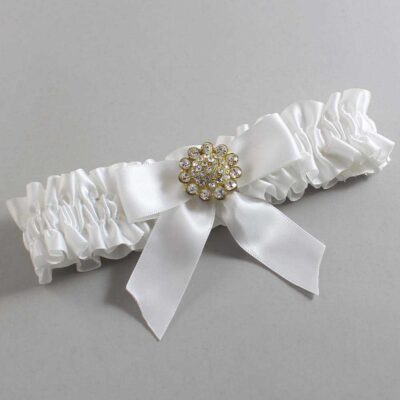 White Wedding Garter / White Wedding Garters / Tamera #01-B02-M12-112-White / Wedding Garters / Custom Wedding Garters / Bridal Garter / Prom Garter / Linda Joyce Couture