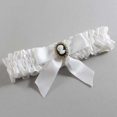 White Wedding Garter / White Wedding Garters / Sherri #01-B02-M15-112-White / Wedding Garters / Custom Wedding Garters / Bridal Garter / Prom Garter / Linda Joyce Couture