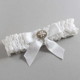 White Wedding Garter / White Wedding Garters / Penelope #01-B02-M16-112-White / Wedding Garters / Custom Wedding Garters / Bridal Garter / Prom Garter / Linda Joyce Couture