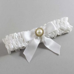 White Wedding Garter / White Wedding Garters / Rubie #01-B02-M21-112-White / Wedding Garters / Custom Wedding Garters / Bridal Garter / Prom Garter / Linda Joyce Couture