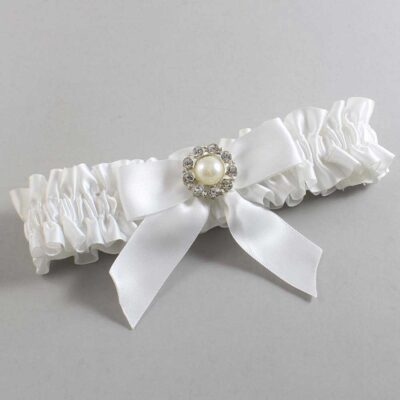 White Wedding Garter / White Wedding Garters / Mya #01-B02-M24-112-White / Wedding Garters / Custom Wedding Garters / Bridal Garter / Prom Garter / Linda Joyce Couture
