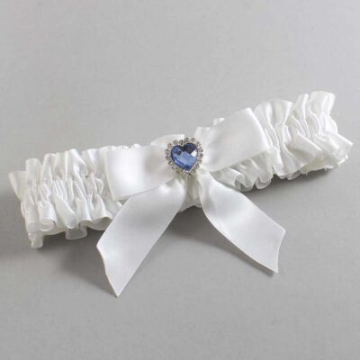 White Wedding Garter / White Wedding Garters / Misty #01-B02-M25-112-White / Wedding Garters / Custom Wedding Garters / Bridal Garter / Prom Garter / Linda Joyce Couture