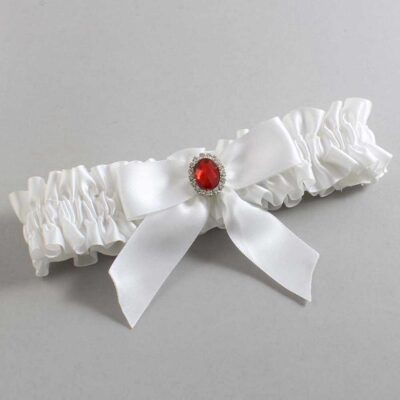 White Wedding Garter / White Wedding Garters / Nattie #01-B02-M26-112-White / Wedding Garters / Custom Wedding Garters / Bridal Garter / Prom Garter / Linda Joyce Couture