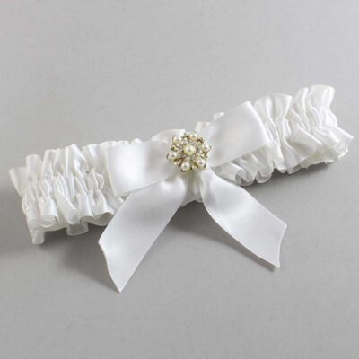 White Wedding Garter / White Wedding Garters / Selina #01-B02-M27-112-White / Wedding Garters / Custom Wedding Garters / Bridal Garter / Prom Garter / Linda Joyce Couture