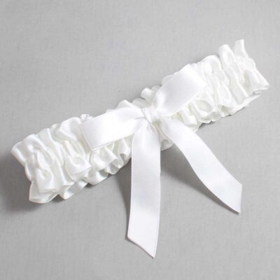 White Wedding Garter / White Wedding Garters / Paulette #01-B03-00-112-White / Wedding Garters / Custom Wedding Garters / Bridal Garter / Prom Garter / Linda Joyce Couture