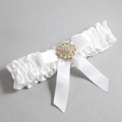 White Wedding Garter / White Wedding Garters / Samantha #01-B03-M12-112-White / Wedding Garters / Custom Wedding Garters / Bridal Garter / Prom Garter / Linda Joyce Couture