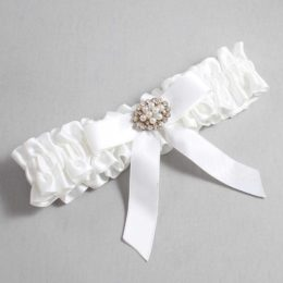 White Wedding Garter / White Wedding Garters / Daryl #01-B03-M16-112-White / Wedding Garters / Custom Wedding Garters / Bridal Garter / Prom Garter / Linda Joyce Couture