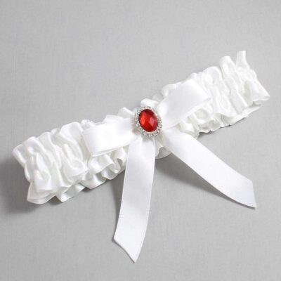 White Wedding Garter / White Wedding Garters / Fran #01-B03-M26-112-White / Wedding Garters / Custom Wedding Garters / Bridal Garter / Prom Garter / Linda Joyce Couture