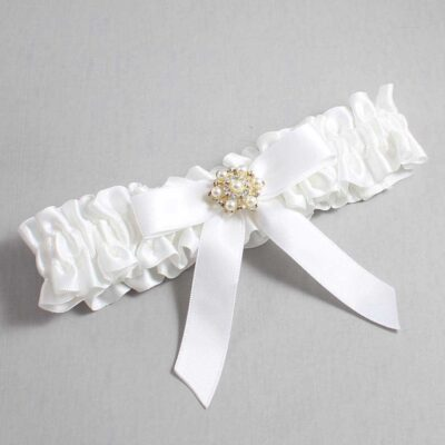 White Wedding Garter / White Wedding Garters / Carolee #01-B03-M27-112-White / Wedding Garters / Custom Wedding Garters / Bridal Garter / Prom Garter / Linda Joyce Couture