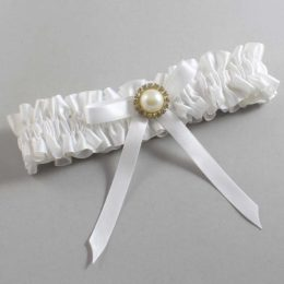 White Wedding Garter / White Wedding Garters / Dixie #01-B04-M21-112-White / Wedding Garters / Custom Wedding Garters / Bridal Garter / Prom Garter / Linda Joyce Couture