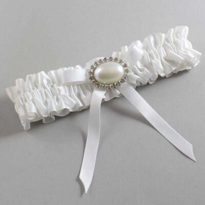 White Wedding Garter / White Wedding Garters / Eliza #01-B04-M30-112-White / Wedding Garters / Custom Wedding Garters / Bridal Garter / Prom Garter / Linda Joyce Couture