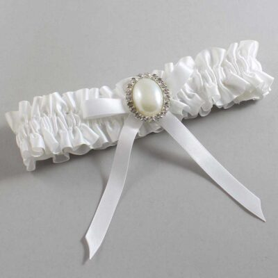 White Wedding Garter / White Wedding Garters / Erin #01-B04-M31-112-White / Wedding Garters / Custom Wedding Garters / Bridal Garter / Prom Garter / Linda Joyce Couture