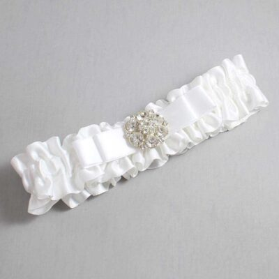 White Wedding Garter / White Wedding Garters / Alexis #01-B20-M11-112-White / Wedding Garters / Custom Wedding Garters / Bridal Garter / Prom Garter / Linda Joyce Couture