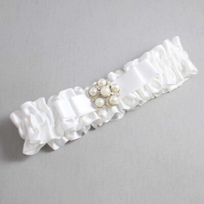 White Wedding Garter / White Wedding Garters / Haley #01-B20-M13-112-White / Wedding Garters / Custom Wedding Garters / Bridal Garter / Prom Garter / Linda Joyce Couture