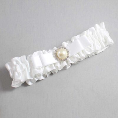 White Wedding Garter / White Wedding Garters / Jade #01-B20-M21-112-White / Wedding Garters / Custom Wedding Garters / Bridal Garter / Prom Garter / Linda Joyce Couture