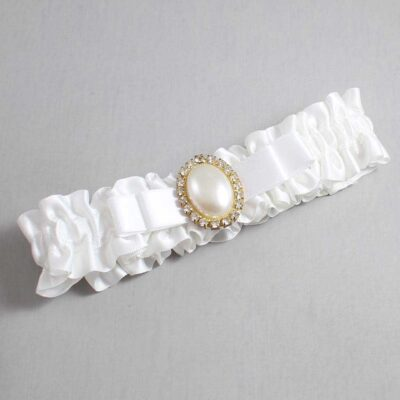 White Wedding Garter / White Wedding Garters / Molly #01-B20-M29-112-White / Wedding Garters / Custom Wedding Garters / Bridal Garter / Prom Garter / Linda Joyce Couture