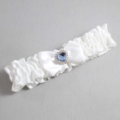 White Wedding Garter / White Wedding Garters / Alice #01-B21-M25-112-White / Wedding Garters / Custom Wedding Garters / Bridal Garter / Prom Garter / Linda Joyce Couture