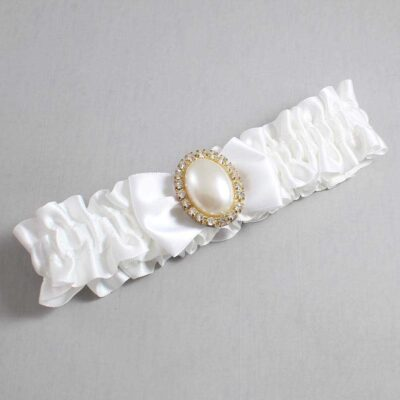 White Wedding Garter / White Wedding Garters / Chelsea #01-B21-M29-112-White / Wedding Garters / Custom Wedding Garters / Bridal Garter / Prom Garter / Linda Joyce Couture