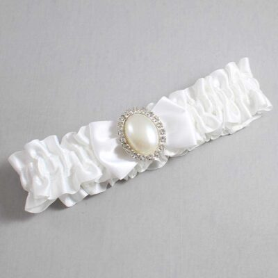 White Wedding Garter / White Wedding Garters / Chelsea #01-B21-M31-112-White / Wedding Garters / Custom Wedding Garters / Bridal Garter / Prom Garter / Linda Joyce Couture