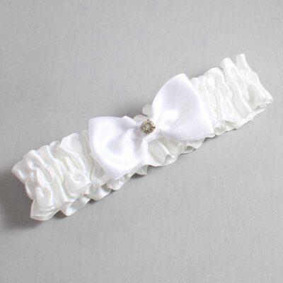 White Wedding Garter / White Wedding Garters / Jodi #01-B29-M03-112-White / Wedding Garters / Custom Wedding Garters / Bridal Garter / Prom Garter / Linda Joyce Couture